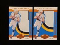 (2) 2020 Panini Plates & Patches Justin Herbert 4 COLOR PATCH SSP RC #/50 LOT 2