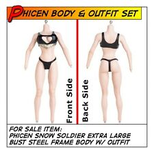Phicen Snow Soldier Steel Frame XL Bust Body w/ Bikini Suit for 1/6 12 in scale