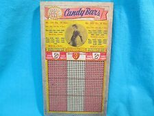 Unpunched 900 Hole Odd Pennies Candy Bars Modest Pin Up Girlie Punch Board