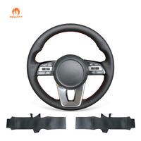 Black Soft Leather Steering Wheel Cover for Kia K5 Optima Cee'd Ceed Forte 2019
