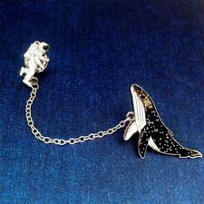 Brooch Collar Pin Badge Jewelry Cartoon Astronaut Whale Design Alloy Enamel
