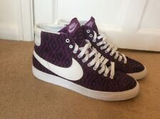 Worn Once Nike ID Customised Blazer Trainers Purple Black White Aztec Size UK10
