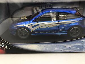 1/18 Mattel 100% Hot Wheels 2002 Ford Focus in Blue JM Part # 57317