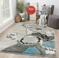 Brand New Soft Abstract Design Hand-Carved Modern Contemporary Area Rug