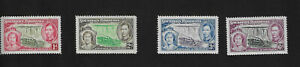 1937 Southern Rhodesia KG6 Coronation Complete Set SG36-SG39 MINT