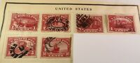 US Parcel Post Stamps Used: Q1 - Q6 1; 2; 3; 4; 5; & 10 cent issues