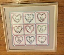 "Home Interiors Picture ""Love Is"" by Charles Humphrey Light Wood Frame 17 3/4"" Sq"