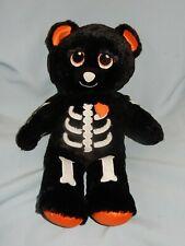 "Build A Bear Skeleteddy Halloween Black Orange Skeleton 16"" HTF!!"