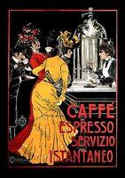 Vintage Caffe Espresso Advert Poster Wall Art, Cult Nostalgic re-print A4, A3.