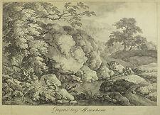 Gegend bey Mannheim. Sehr schöne Ansicht, Gebirgslandschaft am Bach. Um 1750