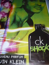"LOT  2  AFFICHES  CALVIN  KLEIN "" ONE  SHOCK ""  2011    120x180   TBE NON PLIEES"