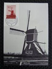 NIEDERLANDE MK 1963 WINDMÜHLE WINDMILL MAXIMUMKARTE MAXIMUM CARD MC CM 9739