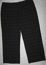 Cropped Capri Pants Black White Geometric Square Pinstripe Size 14 Covington