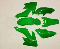GREEN Plastics Fairing Fender Kit CRF50 110c 125cc140cc PIT PRO Trail Dirt Bike