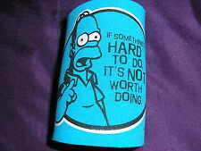 The Simpsons Homer Can Cooler Holder -Blue