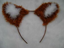 Chestnut Tan Fox Ears Faux Fur Fancy Dress Fox Ears Costume - All Colours -