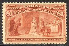 U.S. #241 Unused - 1893 $1.00 Coulmbian ($500)