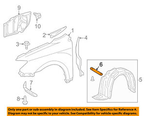 Scion TOYOTA OEM 11-16 tC-Fender Liner Splash Shield Retainer 5387921020