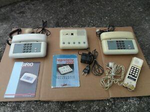 LOTTO DUE TELEFONI SIP SIRIO + SEGRETERIA TELEFONICA + TELEFONO A MURO - VINTAGE