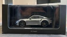 Minichamps 1/43 Porsche 911 992 Turbo S Silver - Dealer Exclusive, New In Box