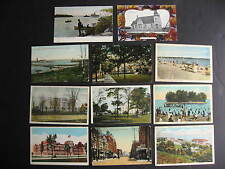 Canada 11 old color postcards, interesting group, check them out!