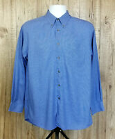 VINTAGE MENS DOCKERS SHIRT SIZE M BLUE CHECK 100% COTTON WORK LONG SLEEVE TOP