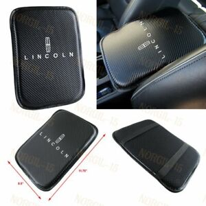 X1Embroidery Carbon Fiber Car Center Armrest Cushion Mat Pad Cover For LINCOLN