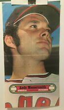 """New listing 1972 TOPPS  BASEBALL POSTER  # 18  ANDY MESSERSMITH  California Angels 10"""" X 18"""""""