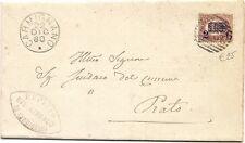 P8462   Firenze, carmignano, annullo numerale a sbarre, 1880