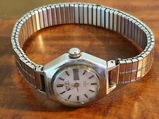 Vintage Seiko 2206-800 ladies watch automatic 17 jewels HI-BEAT stretch bracelet