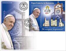 2019 Viaggio Papa Francesco em. congiunta con Vaticano - Romania - fdc ufficiale