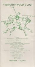 1960 (3rd July) Tidworth Polo Club programme