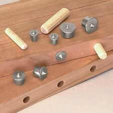 4Pcs Dowel Drill Centre Points Pin Wood 6mm 8mm 10mm 12mm Dowel Tenon Center Set