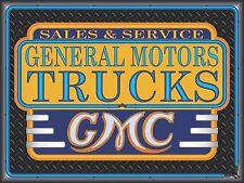 GMC GENERAL MOTORS TRUCKS NEW DESIGN NEON STYLE BANNER SIGN GARAGE ART 4' X 3'