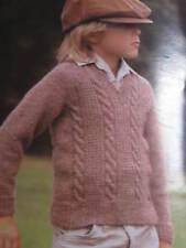 child knitting pattern  cardigan 3 -12 years 8 ply