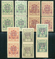POLAND-1919,-WYSTAWA MAREK -W-WA-SC # B1-B7, FI 102-106,-MNH.- ( 13 )