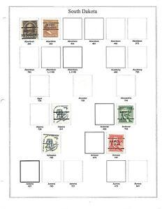 NICE COLLECTION OF 152 DIFFERENT SOUTH DAKOTA PRECANCEL TYPES !!!
