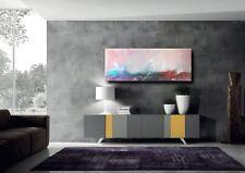quadro moderno dipinto  ad olio su tela astratto artista Sauro Bos 120x45