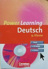 Power Learning. -  Deutsch 9. Klasse: Übungsbuch mit Lösungsheft incl. CD-ROM