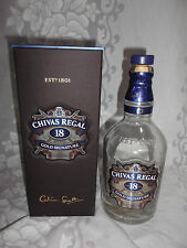 "EMPTY BOTTLE ""CHIVAS REGAL"" 18 YRS BLENDED SCOTCH WHISKY ** GOLD SIGNATURE"