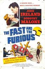 THE FAST AND THE FURIOUS Movie POSTER 27x40 John Ireland Dorothy Malone Bruce