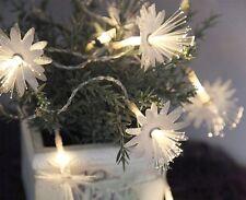 LED-Lichterkette - Fibre Line Indoor - Batterie; Timer; 1,40m; 10x Weiß - Blume