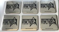 DESTINATION STAR TREK 3 CONVENTION LONDON SILVER/BLACK DRINKS COASTERS X 6 NEW