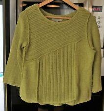pull Jacqueline Riu , Taille 2 , vert , coutures apparentes