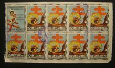 1937  VII° CAMPAGNA  ANTITUBERCOLARE - Foglietto  di 10 valori