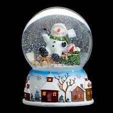 Premier Christmas 100mm Musical Snow Globe MO151339 - Snowman