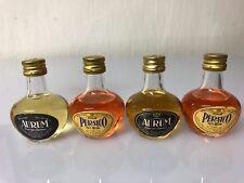 Lotto 4 Mignon Miniature Aurum Orange Liqueur - Persico Brandy 25cc