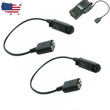 2X Adapter Cable For BaoFeng UV-9R PLUS to 2Pin UV-5R Radios Headset Speaker MIC