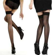 Quality Girl Lady High Stockings Seamed Long Over Knee Heal Seam Thigh High 0cn