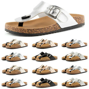 Neu Damen Sandalen Sandaletten Zehentrenner Schlappen 1723 Schuhe Gr. 36-41